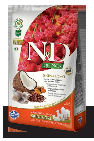 N&D hrana za pse kvinoja in riba