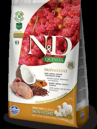 N&D hrana za pse kvinoja in prepelica
