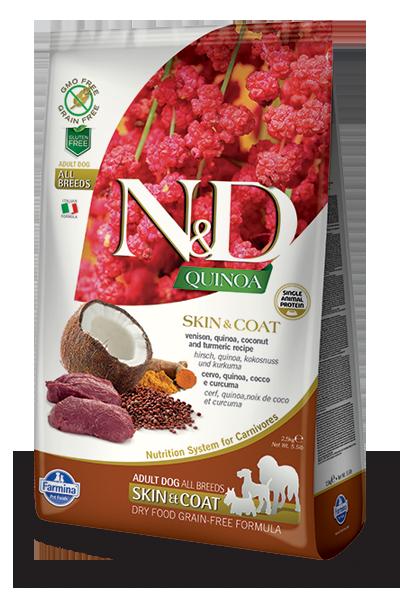 N&D hrana za pse kvinoja in divjačina