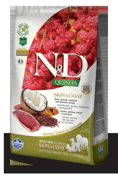 N&D hrana za pse kvinoja in raca