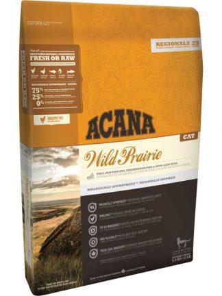 hrana za mačke brez žitaric za vsa življenjska obdobja piščanec acana wild prairie