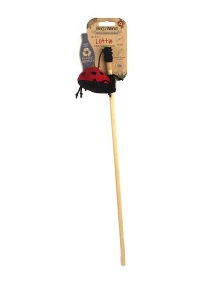 trpežna igrača za mačke najlona na elastiki rdeča pikapolonica interaktivna