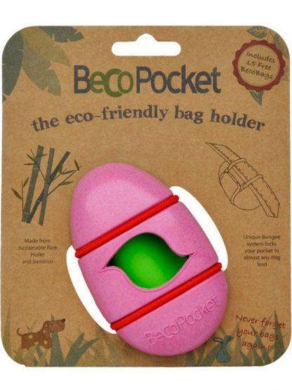 nosilec za pasje vrečke drečke roza razgradljiv eko okolju prijazen