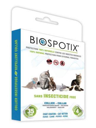 naravna ovratnica proti klopom in bolham za mačke geraniol brez insekticidov biospotix