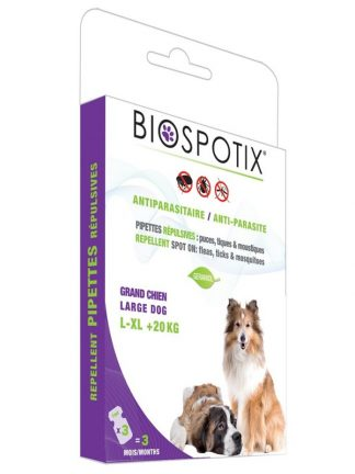 naravne ampule za pse proti bolham klopom in komarjem geraniol biospotix