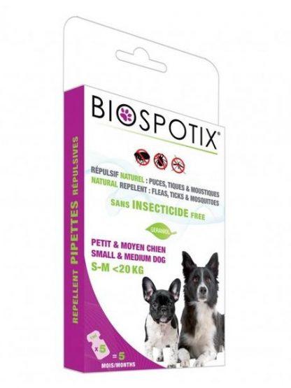 naravne ampule proti klopom bolham komarjem za pse geraniol brez insekticidov
