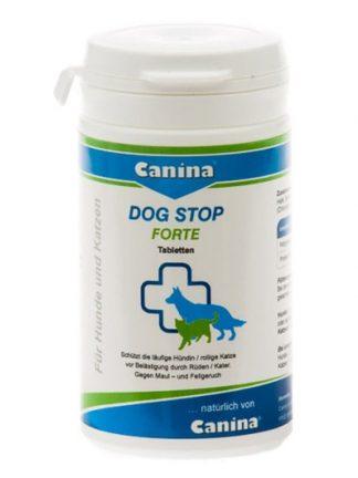 Canina dog stop forte tablete proti pasjemu zadahu ali pri gonečih psičkah za zakrivanje vonja