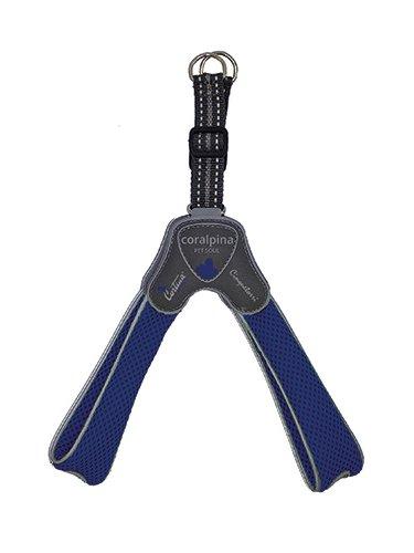 step-in oprsnica za pse mehko podložena z mrežastim materialom modra mehka lahka trpežna kvalitetna cortina pet soul