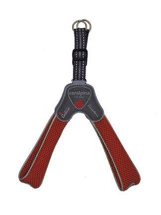 step-in oprsnica za pse podložena lahka trpežna tre ponti cortina pet soul rdeča mrežasta odsevniki