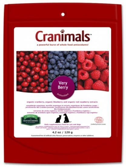 Cranimals very berry dodatek za pse naravne brusnice robide za podporo organizmu urinarne težave