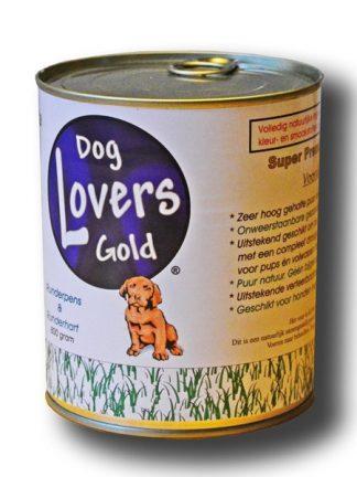 Dog Lovers Gold konzerva za pse zeleni vampi in srce brez žitaric