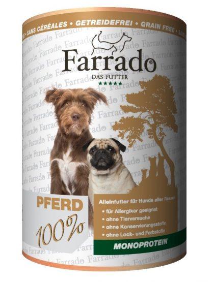 Farrado mokra hrana za pse 100% meso konj za alergike monoproteinska dieta