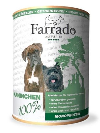 Farrado pasja konzerva 100% meso kunec brez dodatkov za alergike