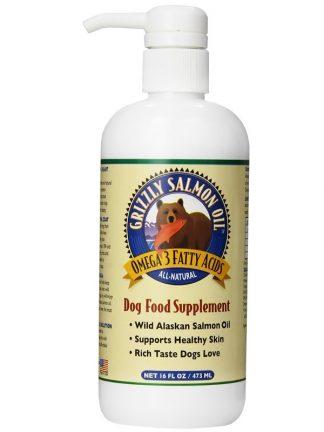 Grizzly lososovo olje naravno prehransko dopolnilo za pse za dlako