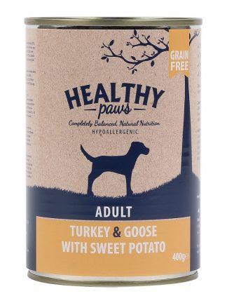 Healthy Paws konzervirana hrana za pse puran gos 400