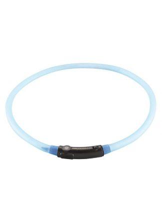 led svetleča ovratnica za pse prilagodljiva univerzalna polnilna usb lahka modra