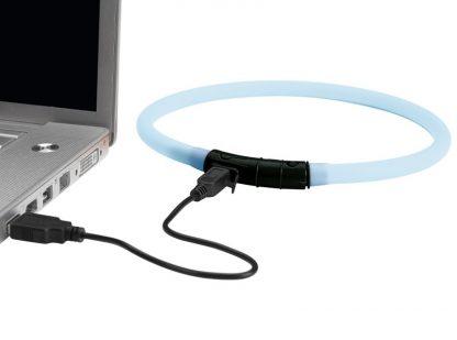 pasja LED ovratnica svetleča z lučkami polnilna baterija USB uporabna lahka svetla