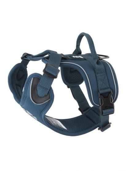 oprsnica za pse z ročajem podložena robustna kvalitetna modra