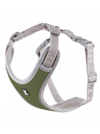 oprsnica za pse z nosilcem za lučko lahka podložena zelena kvalitetna