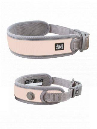 podložena ovratnica za pse široka lahka z nosilcem za lučko odsevniki in močno klipsno