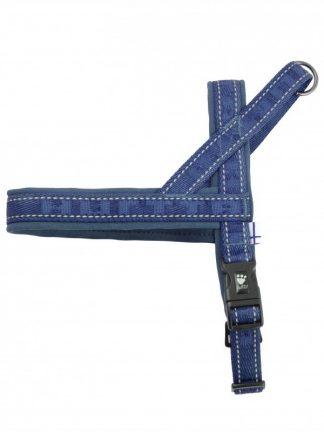 modra podložena pasja oprsnica z ročajem lahka enostavna kvalitetna