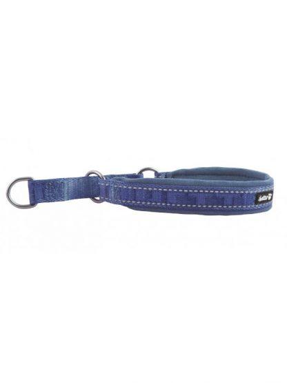 polzatezna ovratnica za pse modra podložena trpežna kvalitetna lahka široka odsevniki