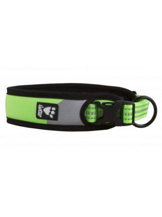 fluorescentna ovratnica za psa dazzle široka odsevniki mehka lahka trpežna
