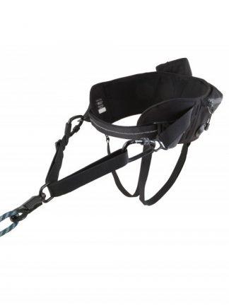 pas za tek s psom ali pohodništvo quick release bidon žep podložen črn