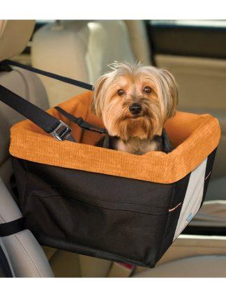 privzdignjen sedež za pse s pripenjalnim mestom ugodbno varno potovanje