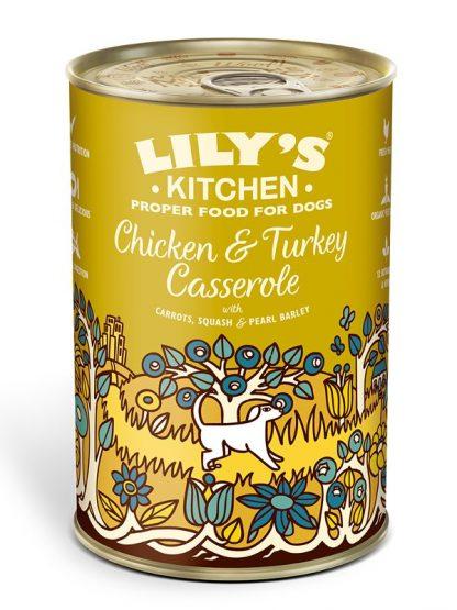 Lilys Kitchen konzerva za pse mineštra piščanec puran 400