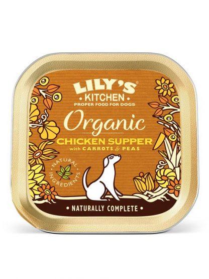 Lilys Kitchen organska hrana za pse piščanec večerja pira 150