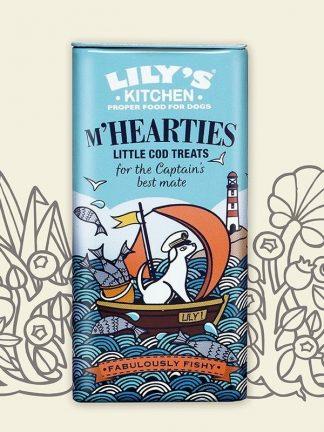 Lilys Kitchen M Hearties priboljški za pse polenovka