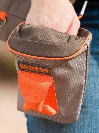 major dog torbica za pasje priboljške za šolanje siva priročna