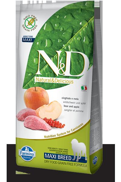 N&D maxi grain free hrana za pse svinjina