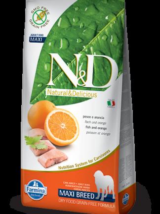N&D grain free hrana za pse riba maxi