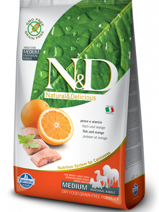 N&D hrana za pse grain free medium riba