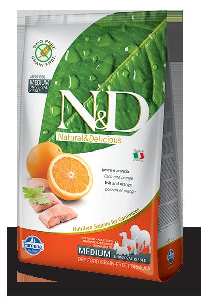 N&D hrana za pse grain free medium riba