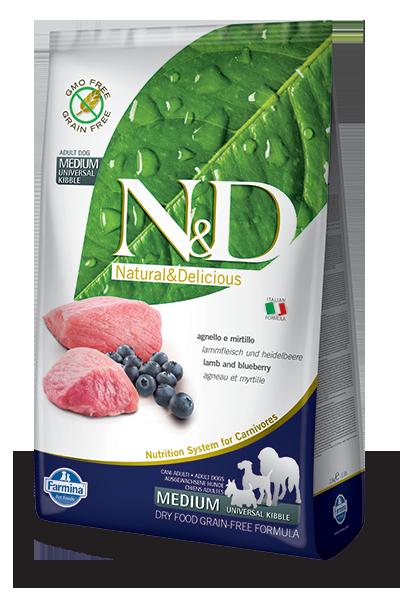 N&D hrana za pse medium lamb