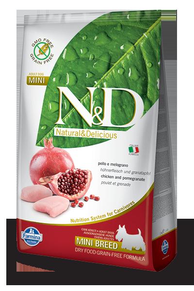 N&D hrana za pse grain free mini piščanec