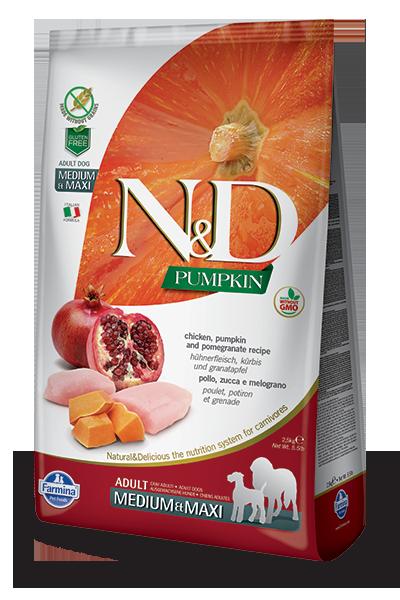 N&D hrana za pse piščanec in granatno jabolko medium &maxi