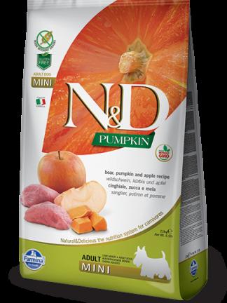 hrana za pse N&D svinjina in buča mini
