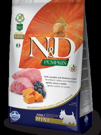 N&D hrana za pse jagnjetina in buča mini