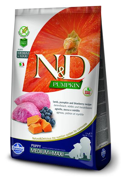 n&d hrana za mladiče jagnjetina & buča
