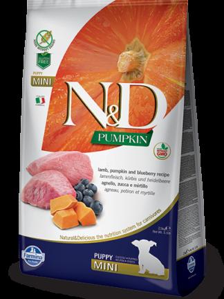 N&D hrana za mladiče jagnjetina in buča