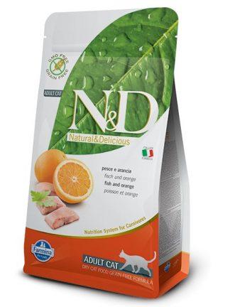 mačja hrana brez žitaric riba pomaranča za odrasle