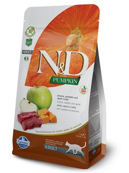 mačja hrana brez žitaric jabolko divjačina in buča