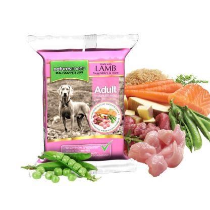 Surova hrana za pse z zelenjavo in jagnjetino zamrznjena BARF