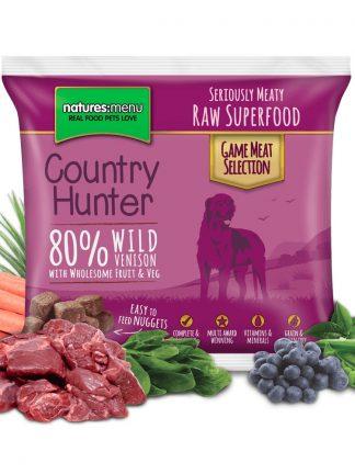 Natures Menu surova hrana za pse divjačina v koščkih z zelenjavo in sadjem