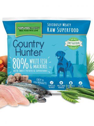 Natures Menu surova hrana za pse bela riba skuša z zelenjavo in sadjem
