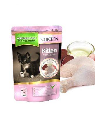 mokra hrana za mačje mladiče piščanec v vrečki